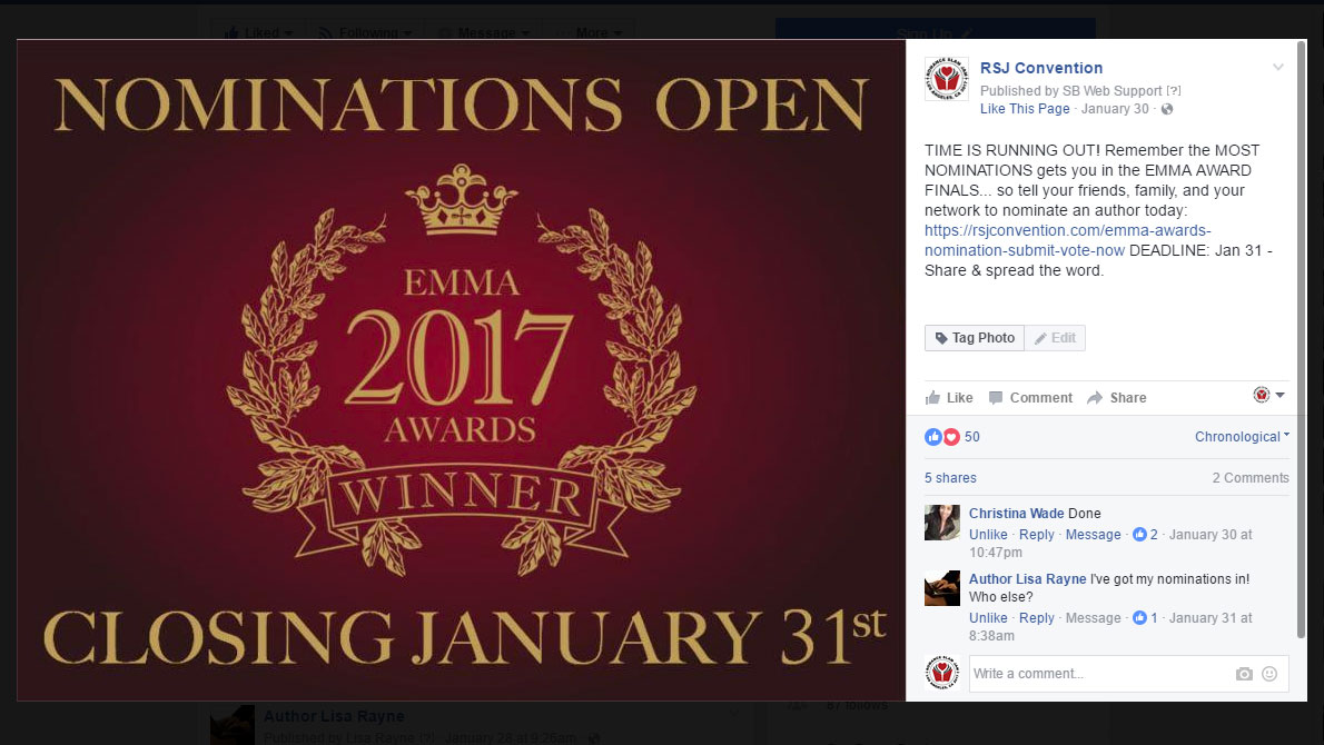 Don't Forget: Emma Awards Nominations Close Today!