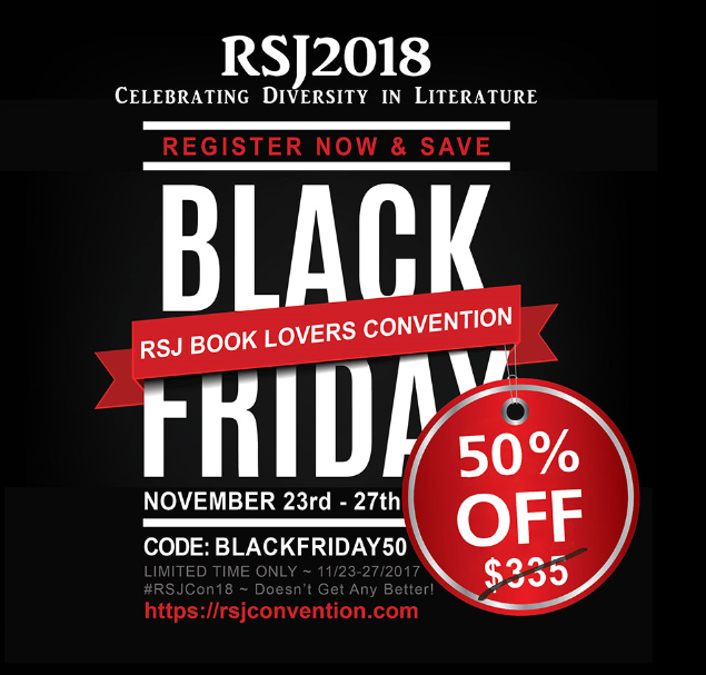 Act NOW! ~ 50% Off RSJ Book Lover Event (Black Friday thru Cyber Monday)